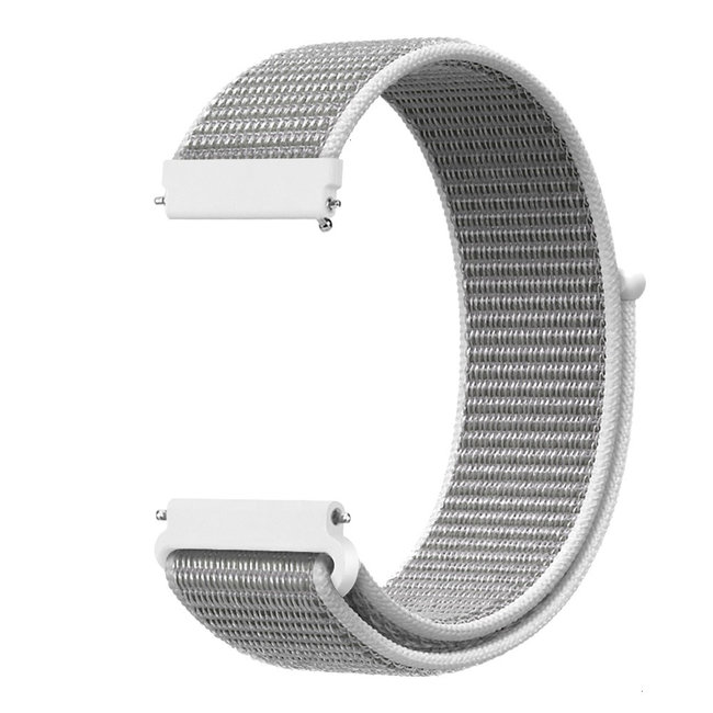 Marque 123watches Bracelet Sport en Nylon pour Garmin Vivoactive / Vivomove - coquillage