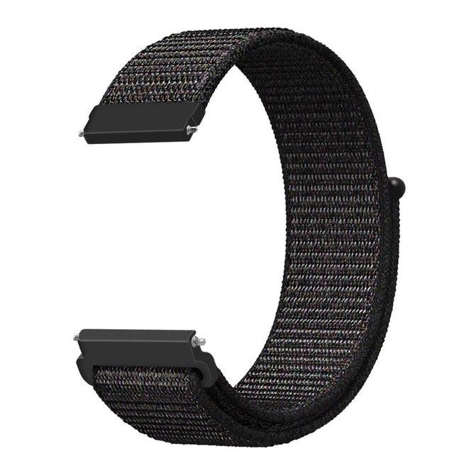 Marque 123watches Bracelet Sport en Nylon pour Garmin Vivoactive / Vivomove - mélange noir
