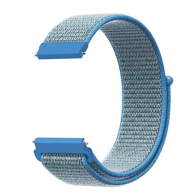 Marque 123watches Bracelet Sport en Nylon pour Garmin Vivoactive / Vivomove - bleu tahoe