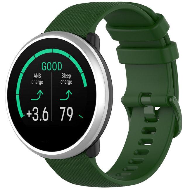 Marque 123watches Bracelet en boucle en silicone Polar Ignite - vert