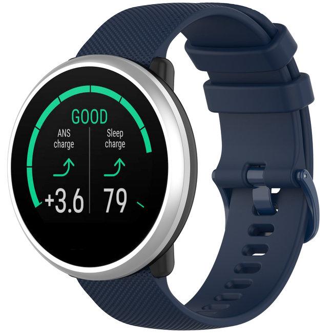 Marque 123watches Bracelet en boucle en silicone Polar Ignite - bleu marin