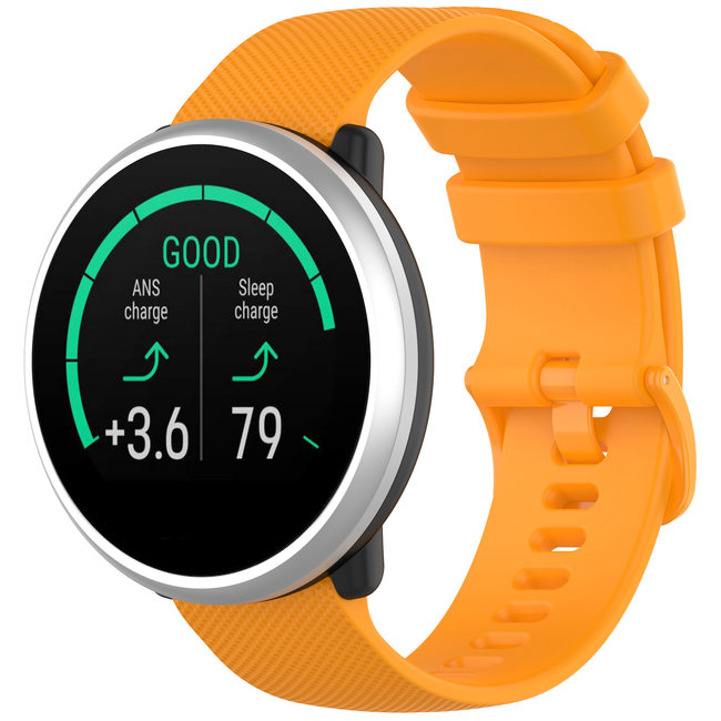 Marque 123watches Bracelet en boucle en silicone Polar Ignite - orange