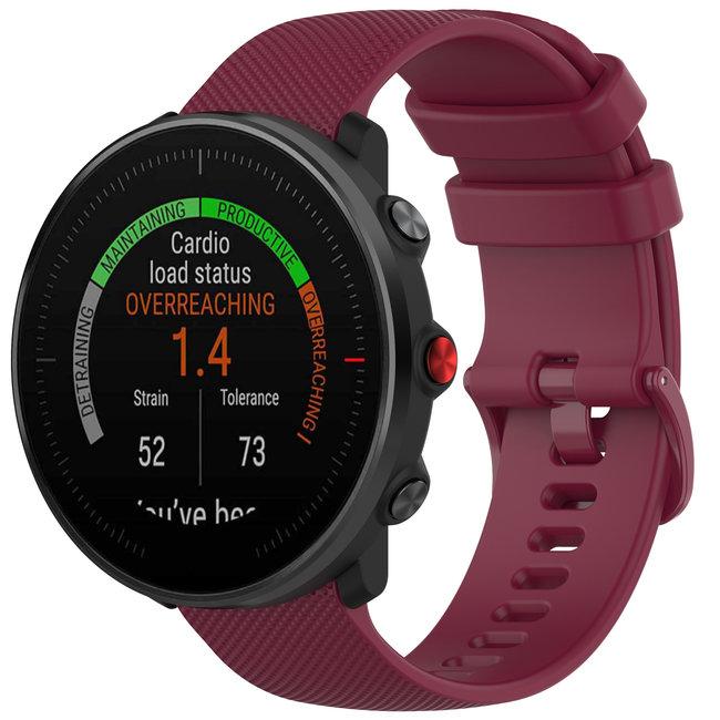 Marque 123watches Bracelet en boucle en silicone Polar Vantage M / Grit X - vin rouge