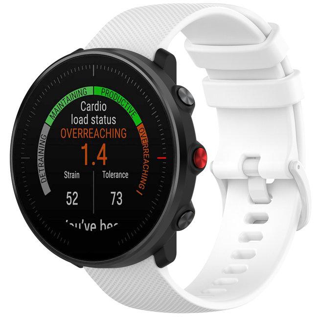 Marque 123watches Bracelet en boucle en silicone Polar Vantage M / Grit X - blanc