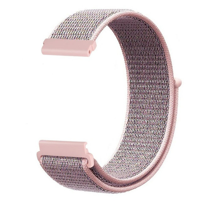 Marque 123watches Bracelet Sport en Nylon pour Polar Vantage M / Grit X - sable rose