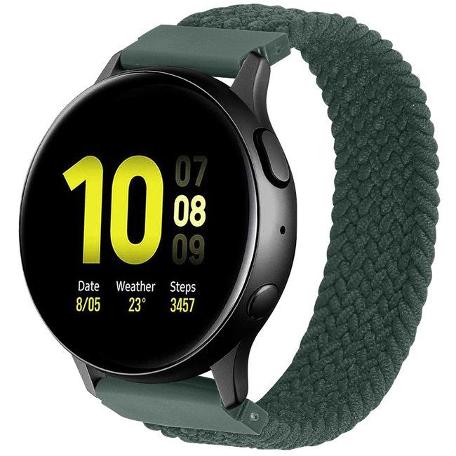 Marque 123watches Samsung Galaxy Watch orchestre solo tressé - Vert d'Inverness