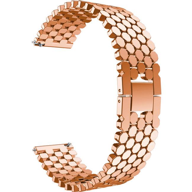 Samsung Galaxy Watch  Bracelet ˆ maillons en acier de poisson - Rose Or