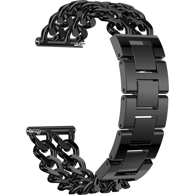Marque 123watches Samsung Galaxy Watch Ceinture ˆ maillons en acier de cowboy - Noir