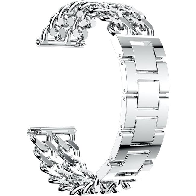 Marque 123watches Samsung Galaxy Watch Ceinture ˆ maillons en acier de cowboy - Argent