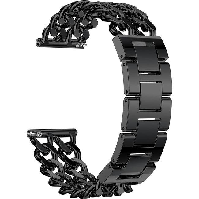 Marque 123watches Garmin Vivoactive Ceinture ˆ maillons en acier de cowboy - Noir