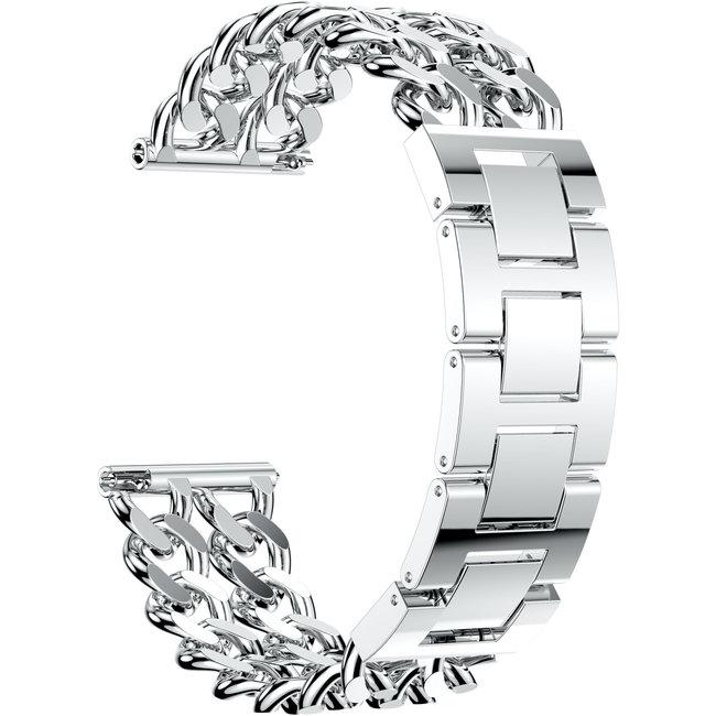 Marque 123watches Garmin Vivoactive Ceinture ˆ maillons en acier de cowboy - Argent