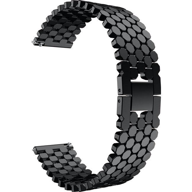 Marque 123watches Huawei GT  Bracelet ˆ maillons en acier de poisson - Noir