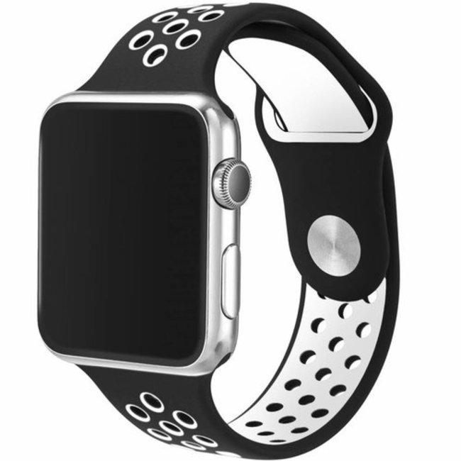 Marque 123watches Apple Watch double sport sangle - noir blanc