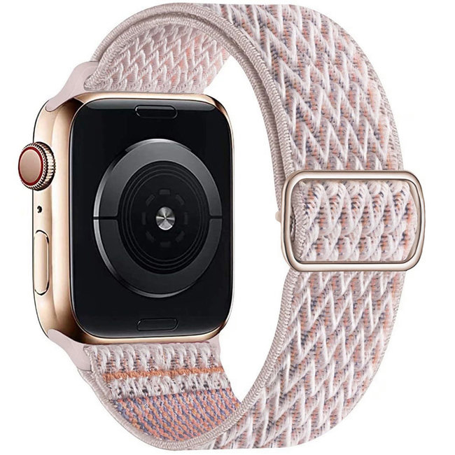 Apple watch nylon solo band - sable rose