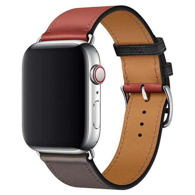 Apple watch cuir chanter tour - gris rouge