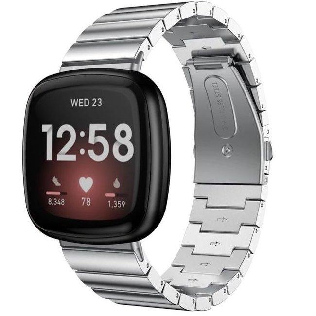 Fitbit Versa 3 / Sense bracelet à maillons en acier - argent