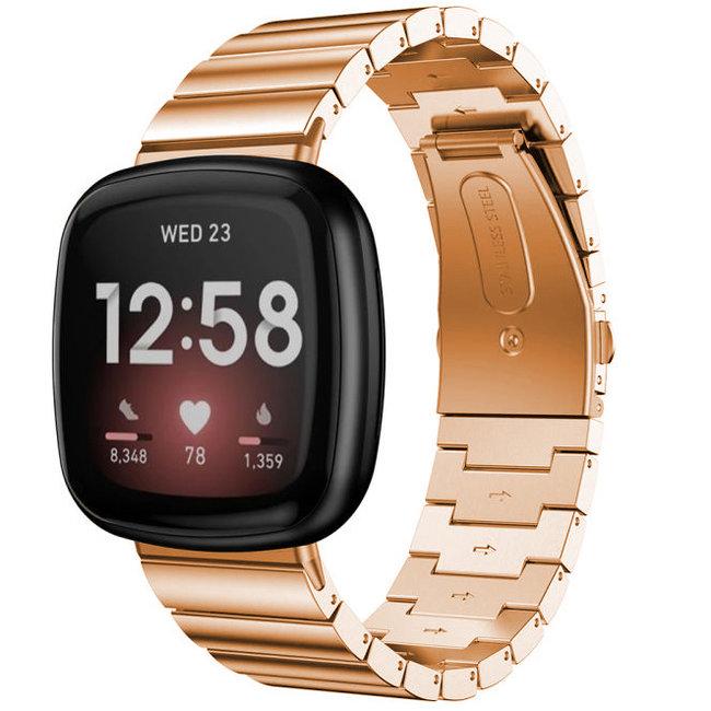 Fitbit Versa 3 / Sense bracelet à maillons en acier - or rose