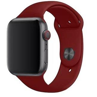 Merk 123watches Apple watch sport band - wijnrood