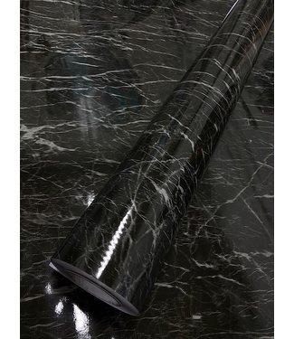 Marmer 08 zwart wit psychodelic