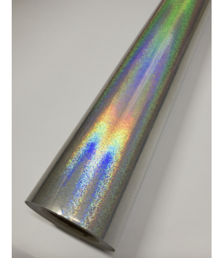 PREMIUMVINYLS Premium Holographic Sand Point SIlver