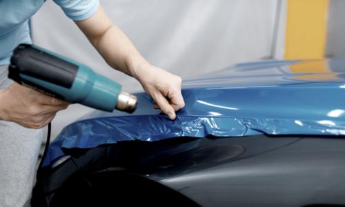 Verwerking auto wrapfolie