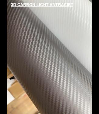 Budget folie Budget 3D Carbon Licht Antraciet