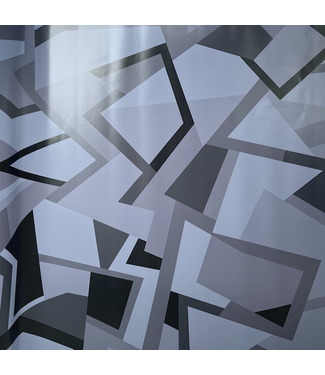 Budget folie Camouflage Geometric Grijs/Zwart Groot