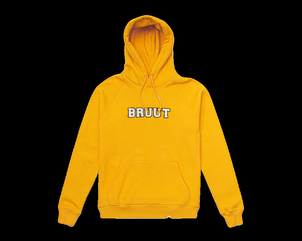 Bruut Varsity Teddy Logo Hoodie Saffron