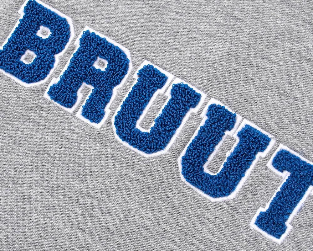 Bruut Varsity Teddy Logo Hoodie Grey Blue