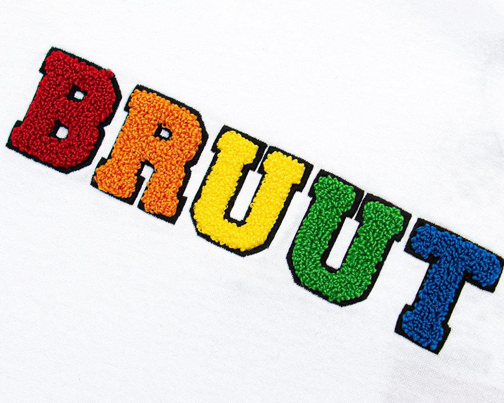 Bruut Varsity Teddy Logo Longsleeve White