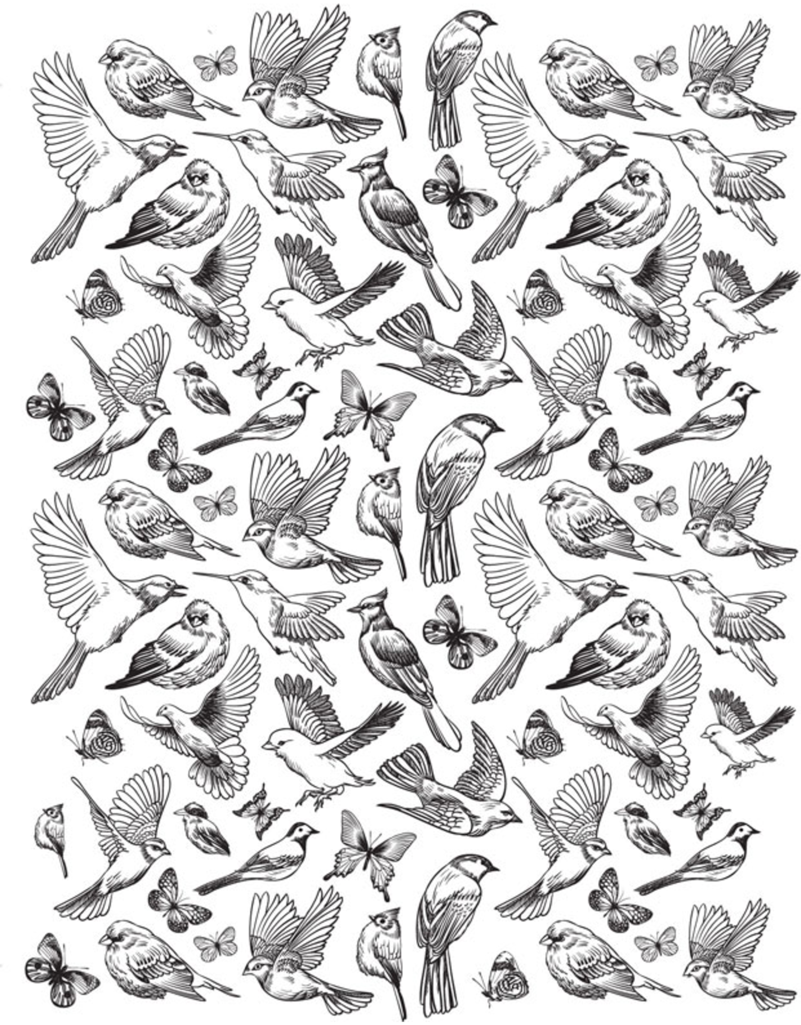 Sanbao Birds & Butterflies Decal