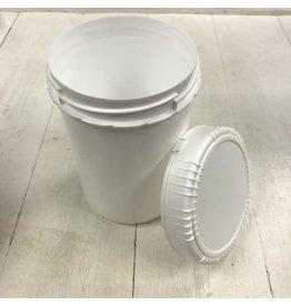 1L plastic jar with lid