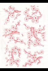 Sanbao Cherry flower decal 7