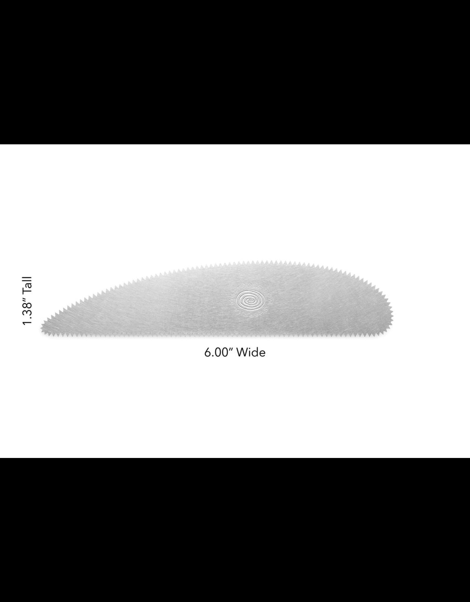 Mudtools Long Scraper Rib (Regular Serrated) stainless steel