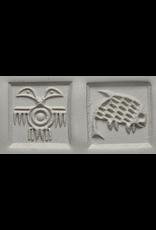 2 headed bird & Fish Stamp