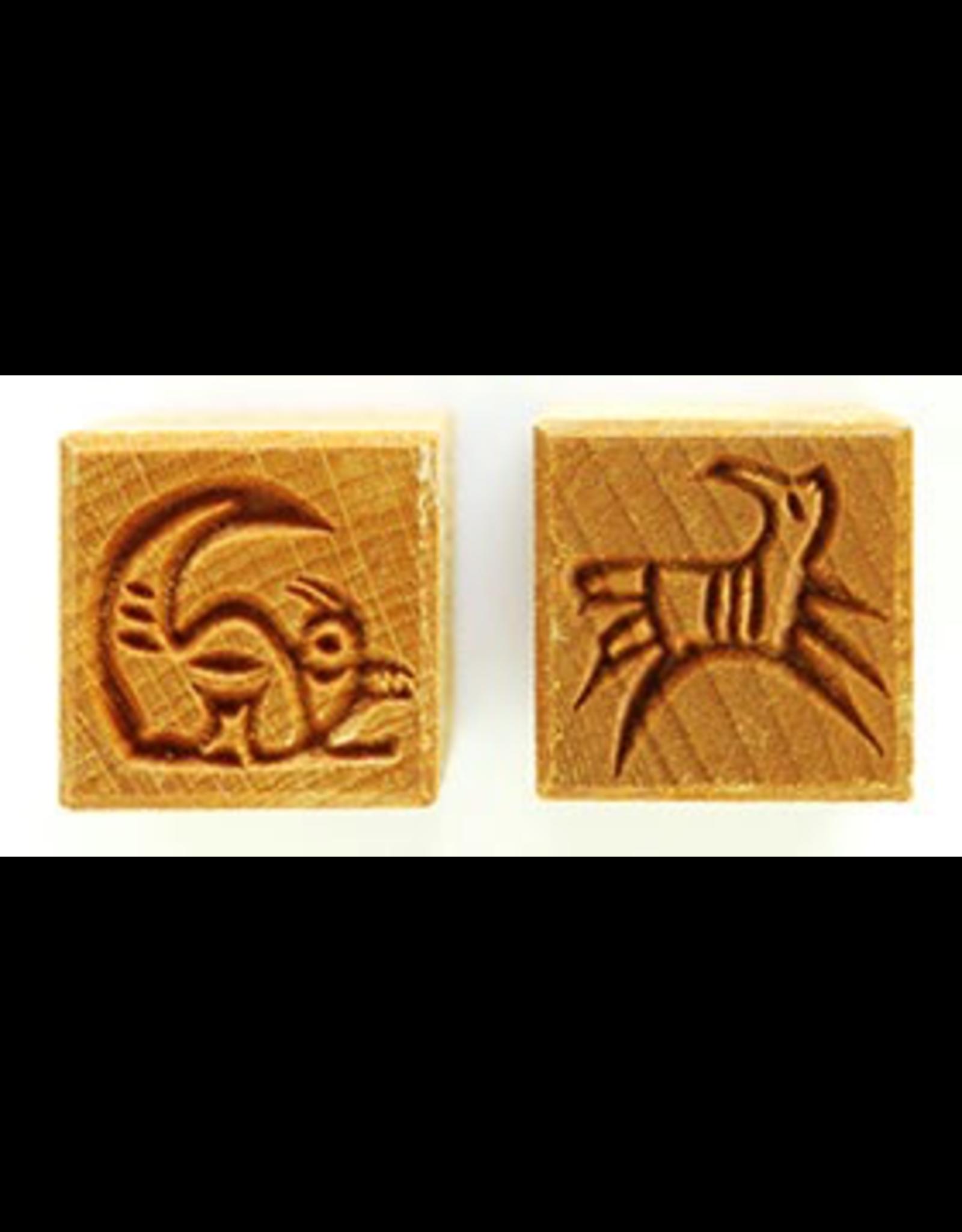 Sitting & running Creature Stamp