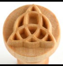 Patterned sphere logo stamp (2.5cm)
