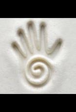 Swirl and hand stamp (2.5cm)