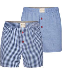 Phil & Co 2-Pack Wijde Boxershorts Heren Design01