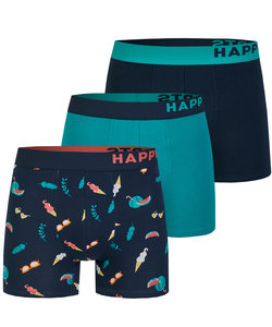 Happy Shorts 3-Pack Boxershorts Heren Ice Cream / Fruits