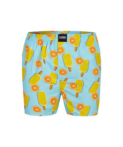 Happy Shorts Wijde Boxershort Sinaasappel IJsjes