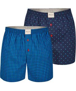 Phil & Co 2-Pack Wijde Boxershorts Heren Design06