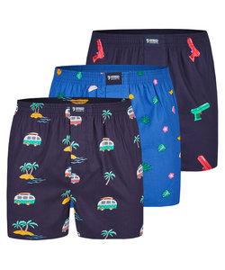 "Happy Shorts 3-Pack Wijde Boxershorts ""Holiday"""