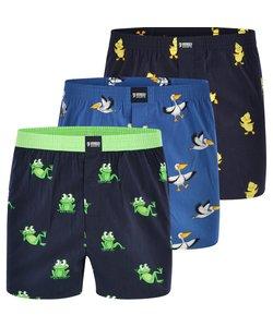 "Happy Shorts 3-Pack Wijde Boxershorts ""Animals #2"""