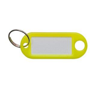 Sleutellabel Neon Geel met ring