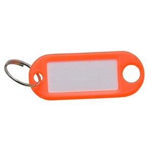 Sleutellabel Neon Oranje met ring