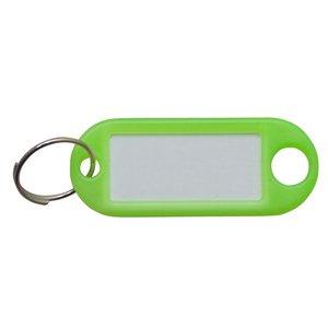 Sleutellabel Neon Groen met ring