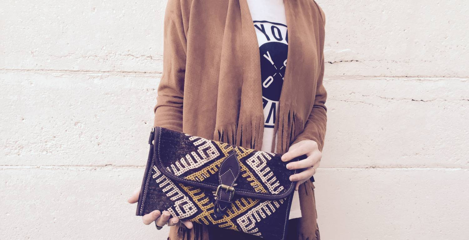 Your perfect festival accessory - New Indy kelim clutches!