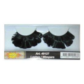 Wimpers veren zwart