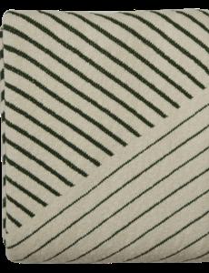 Home Delight Home Delight Plaid Leah - katoen - groen, 125x150cm